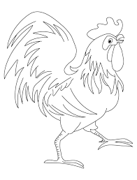 Rooster Chinese Zodiac Sign Coloring Page