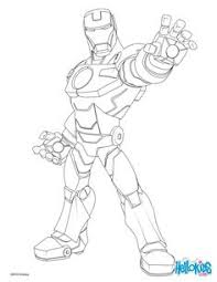 Iron Man Coloring Page More Super Heroes Pages On Hellokids