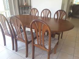 Dining Setting Comprising Table And 6 Chairs Good Condition