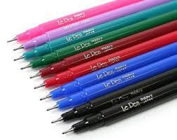 Zebra Mildliner Pens Double Sided Highligthers Gold Blue Pink