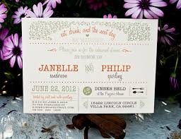Wedding Rehearsal Dinner Invitation Rustic Garden
