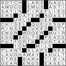 crossword puzzle answers march 15 2016