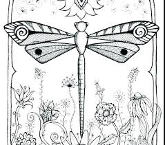 Dragonfly Coloring Pages Page Astounding With
