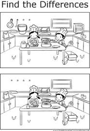 The Two Scenes Of Kids Cooking In Kitchen Depicted This Printable Coloring Page Have