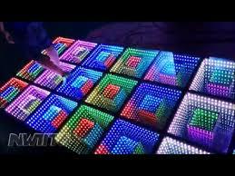 dj disco panel tile portable 3d toughened glass light up led