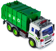 Kids Garbage Truck Toy Green Recycle Vehicle Trash Waste Can Rubbish ...
