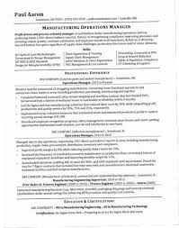 Operations Manager Resume 136Z Sample