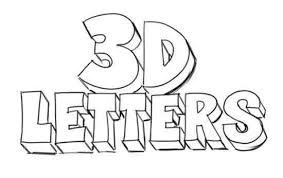 How to draw 3D letters Quora