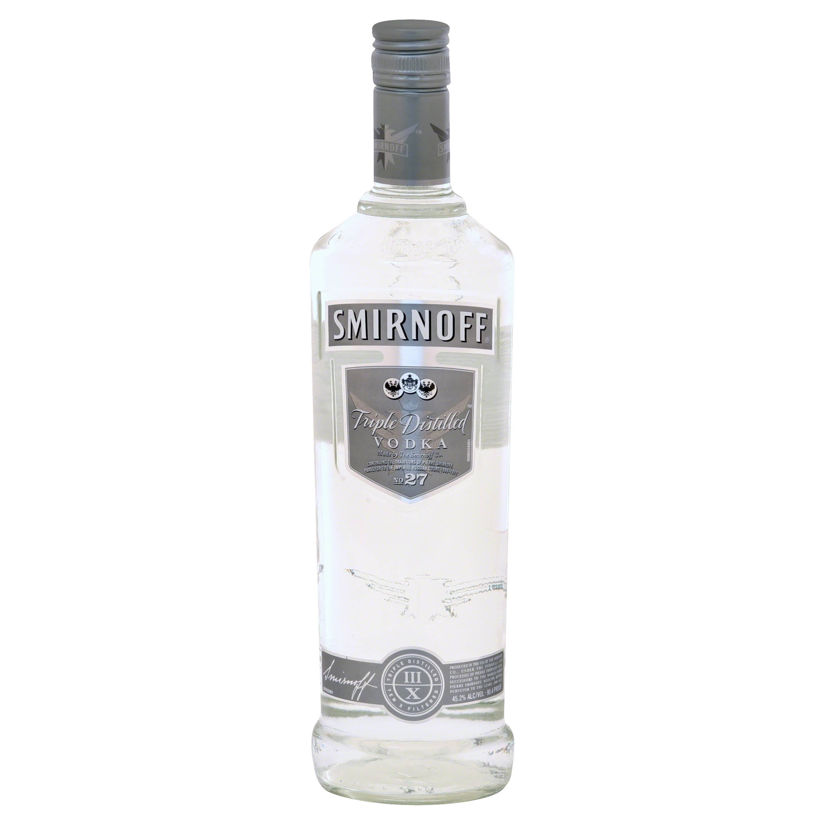 Smirnoff Vodka - Triple Distilled, 750ml