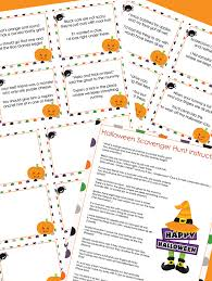 Easy Halloween Scavenger Hunt Clues by Fun Halloween Scavenger Hunt With Printable Clues