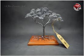 metall bonsai baum wohnzimmer deco
