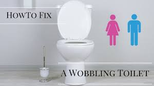 how to fix a wobbly toilet