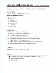 Resume Template For First Job Legal