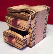 Exotic Wood Small Jewelry Box