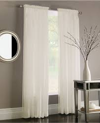 Jcp Home Curtain Rods by Decor White Jc Penney Curtains With Curtain Rods And Side Table