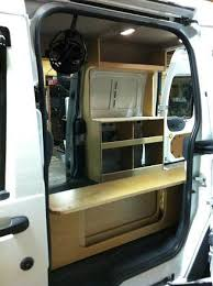 Photo Ford Transit Connect Camper Van DIY Flat Pack Kit Cabinets Minivan Nissan Nv200 Nv1500