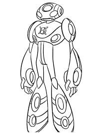 Ben 10 Stood Staring At The Enemy Coloring Pages For Kids Printable