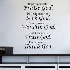 Large Size Every Moment Thank God Wall Quote Decals Bible Verses Stickers