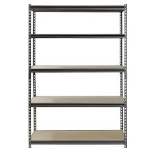Edsal Metal Storage Cabinets by Muscle Rack 5 Shelf Steel Shelving Silver Vein 24