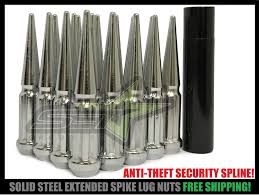 32 CHROME SPIKE Truck Lug Nuts 9/16 Dodge Ram 2500 3500 Ford F250 ... M14 X 15 Alloy Wheel Lock Bolts Locking Security Lug Nuts For Vw Ford Single Wheels Converting Into 8 To 10 2011 Current Family Customs Dmax Project Vv Concepts Spiked Street Diy 5 Cversion On Your Car Or Truck Youtube Labor Saving Easy Nut Wrench Torque Multiplier 1 Dr 32 38 Semi Covers Spike Best Semi Truck Lug Nut Size Nurufunicaaslcom Chrome Duplex Spline Acorn Long 7