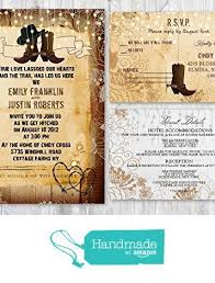 Western Rustic Wedding Invitations With Matching Card Set Of 30 From New York
