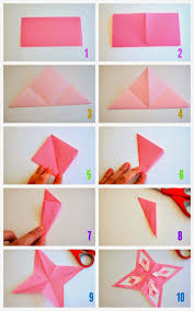 Steps To Fold And Cut Origami Stars Theres Also A Video Show These