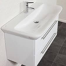badezimmer waschtisch mit unterschrank in weiß hochglanz