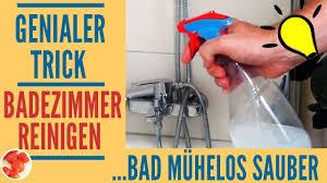 genialer trick duschkabine armaturen reinigen mit hausmitteln dusche im bad sauber machen