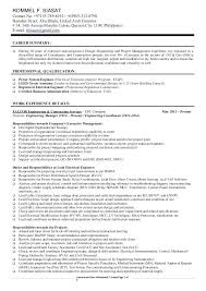 Control System Engineer Resume Pdf Power Sample