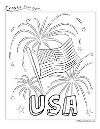 Full Image For Patriotic Free Printable Coloring Page Great Childrens Activity Fourth Of July Make
