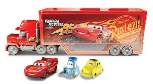 Disney Pixar Cars Fireball Beach Racers Mack Hauler Vehicle With Two ...