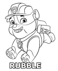 Paw Patrol Coloring Pages Rubble Page Colouring Ryder