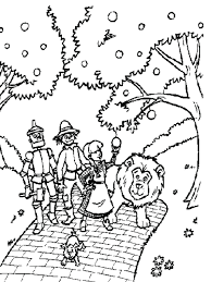 Wizard Oz Coloring Pages Of Easy Pictures Free Full Size
