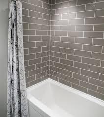 stunning grey subway tile bathroom and best 10 gray subway tiles