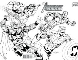 Coloring Pages Superheroes Printables Superhero Books For Adults Book Pdf All Avengers Action