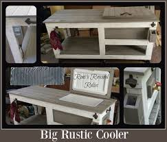 Big Rustic Style Cooler Outdoor Furniture Woodworking Projects