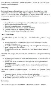 Leasing Agent Resume Sample Manager If You Are Interested In Making Can Read Our Arti