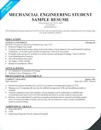 Mechanical Engineering Resume Template Sample Format For Experienced Engineers Students Free Example