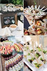 Asian Stations And Sushi Bar Wedding Food