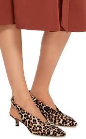 lia leopard print calf hair slingback pumps by tibi moda operandi