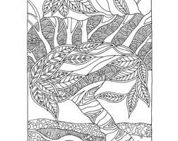 Coloring Page From My Book Trees Flowers For Adults