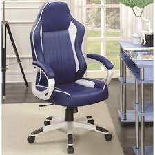 Shop Racer Design Blue/ White Ergonomic Gaming Office Chair - Free ... Mesh Office Chair Computer Ergonomic Tx Executive Chairs And Leather Staples For Sale Prices Brands New Used Fniture Chicago Center Godrej Suppliers High Back Modern Wayfair Basics Reviews Rh Logic 400 From Posturite Eames Herman Miller Embody Hag Capisco Fully