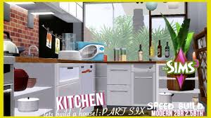 The Sims 3 Speed Build Modern Style Home PART 6 Kitchen YouTube Dazzling Ideas