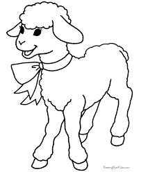 Free Printable Easter Coloring Pages Of Lambs Lamb To Color