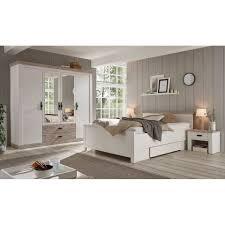 lomadox schlafzimmer set ferna 61 spar set 4 tlg 4 tlg landhaus schlafzimmerset in pinie weiß nb mit absetzungen in pinie dunkel nb