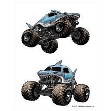 100 Monster Truck Jump Megalodon Decal Pack Jam Stickers Decalcomania