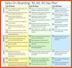 Day Plan Template Word First 90 Days For New Sales Manager