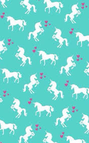 Cute Unicorn Rainbow In Mint Wallpaper