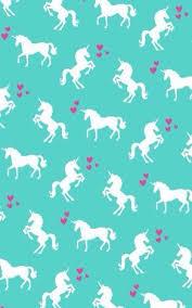 Cute Unicorn Rainbow In Mint Wallpaper
