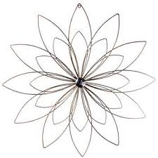 Copper Metal Flower Wall Decor With Bling Center Purchased 2 Different Sizes
